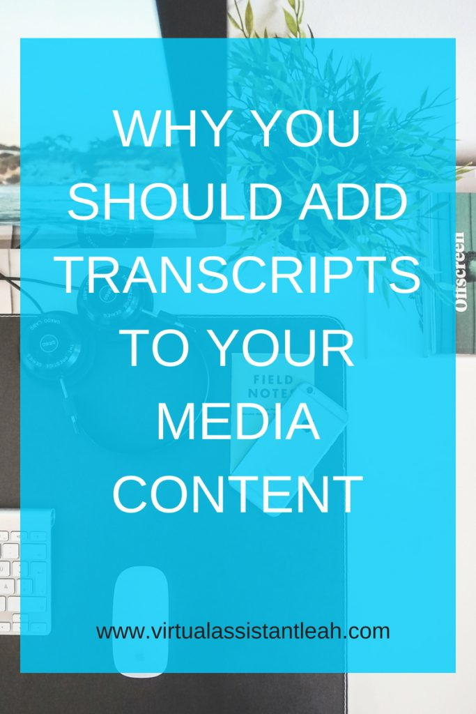 Why you should add transcripts to media content